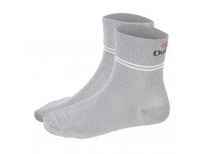 Ponožky Outlast® - tm.šedá/pruh bílý (Velikost 35-38)