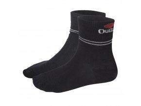 Ponožky Outlast® - černá/pruh šedý (Velikost 43-46)