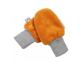 Rukavice bez palce MAZLÍK Outlast® - medová (Velikost 1)