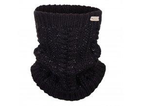 Nákrčník pletený copánek Outlast ® - černá lesk (Velikost 5   49-53 cm)