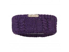 Čelenka pletená copánek Outlast ® - fialová lesk (Velikost 5 | 49-53 cm)