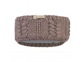 Čelenka pletená copánek Outlast ® - kašmír lesk (Velikost 5 | 49-53 cm)