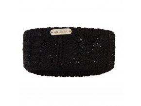 Čelenka pletená copánek Outlast ® - černá lesk (Velikost 5 | 49-53 cm)