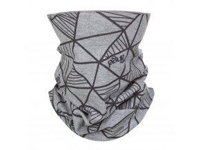 Nákrčník dětský tenký POTISK Outlast® - šedý melír (Velikost UNI)