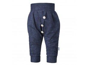 Tepláky harémky knoflíky JEANS - jeans (Velikost 56)