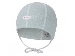 Čepice smyk zavazovací plochý šev Outlast® - lišejník melír (Velikost 0   33-35 cm)