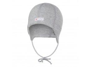 Čepice smyk zavazovací plochý šev Outlast® - šedý melír (Velikost 0 | 33-35 cm)