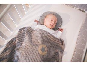 Polštářek - podhlavník pro novorozence Outlast® - šedý melír (Velikost UNI)