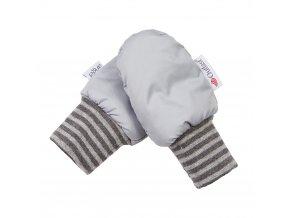Rukavice bez palce prošev Outlast® - sv.šedá (Velikost 1)