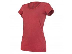 Tričko dámské KR tenké výstřih U Outlast® - bordová (Velikost S)
