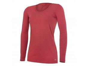 Tričko dámské DR tenké výstřih U Outlast® - bordová (Velikost S)