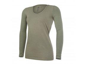 Tričko dámské DR tenké výstřih U Outlast® - khaki (Velikost S)