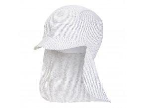Kšiltovka tenká pirát Outlast® - pruh bílošedý melír (Velikost 3 | 42-44 cm)