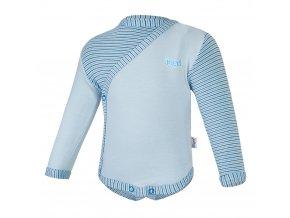 Body tenké zavinovací DR Outlast® - sv.modrá/pruh sv.modrý úzký (Velikost 56)