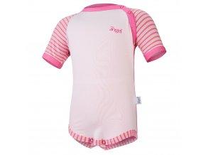 Body tenké KR Outlast® - tm.růžová/pruh růžovožlutý (Velikost 74)