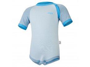 Body tenké KR Outlast® - modrá/pruh sv.modrý úzký (Velikost 74)