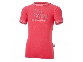 Tričko tenké KR obrázek Outlast® - jahodová/pruh jahodový (Velikost 86)