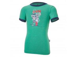 Tričko tenké KR obrázek Outlast® - zelená/tm.modrá (Velikost 86)