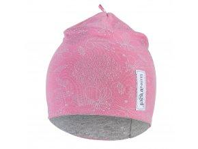 Čepice podšitá Outlast® - růžová lesk/šedý melír (Velikost 1   36-38 cm)