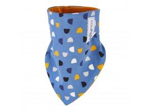Šátek na krk podšitý Outlast® - denim/žlutooranžová (Velikost UNI)