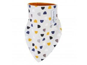 Šátek na krk podšitý Outlast® - béžová/žlutooranžová (Velikost UNI)