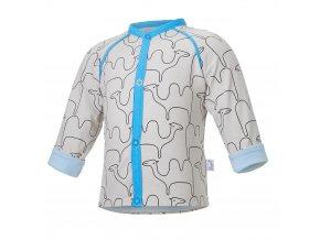 Kabátek podšitý BIO Outlast® - béžová velbloud/sv.modrá (Velikost 62-68)