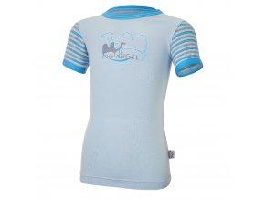 Tričko tenké KR obrázek PRUH Outlast® - sv.modrá/pruh sv.modrý (Velikost 86)