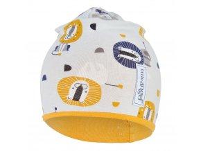 Čepice podšitá LEV Outlast® - béžová/žlutooranžová (Velikost 1 | 36-38 cm)