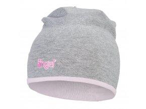 Čepice podšitá Outlast® - šedý melír/růžová baby (Velikost 1 | 36-38 cm)