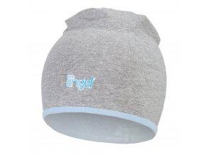Čepice podšitá Outlast® - šedý melír/sv.modrá (Velikost 1 | 36-38 cm)