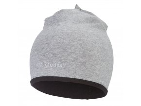 Čepice podšitá Outlast® - šedý melír/černá (Velikost 3 | 42-44 cm)