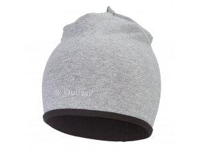 Čepice podšitá Outlast® - šedý melír/černá (Velikost 3   42-44 cm)