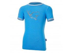 Tričko tenké KR obrázek Outlast® - modrá/pruh sv.modrý úzký (Velikost 86)
