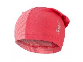 Čepice tenká dlouhá Reflex Outlast® - jahodová/pruh jahodový (Velikost 4 | 45-48 cm)