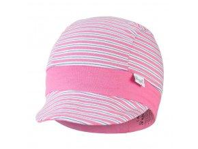 Kšiltovka tenká pruh Outlast® - pruh růžovozelený/tm.růžová (Velikost 3 | 42-44 cm)