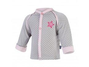 Kabátek podšitý Outlast® - šedá puntík/růžová baby (Velikost 50-56)