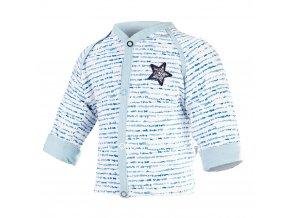 Kabátek podšitý Outlast® - modrý proužek/sv.modrá (Velikost 50-56)