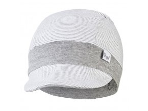 Kšiltovka tenká pruh Outlast® - pruh bílošedý melír/šedý melír (Velikost 3 | 42-44 cm)