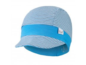 Kšiltovka tenká pruh Outlast® - pruh sv.modrý úzký/modrá (Velikost 3   42-44 cm)