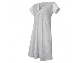 Noční košile tenká Outlast® - pruh bílošedý melír (Velikost M)