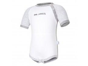 Body tenké KR LA Outlast® - bílá/šedý melír (Velikost 62)