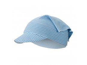 Šátek tenký kšilt Outlast® - pruh sv.modrý úzký (Velikost 3   42-44 cm)