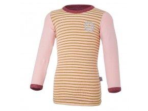 Tričko smyk DR Outlast® - bordó melír/pruh (Velikost 110)