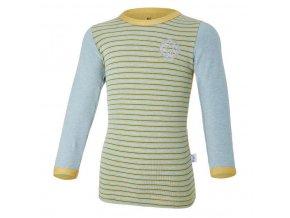 Tričko smyk DR Outlast® - oliva/pruh (Velikost 110)