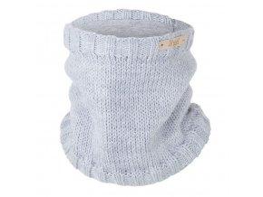 Nákrčník pletený hladký LA Outlast ® - sv.šedá (Velikost 3 | 42-44 cm)