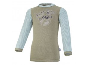 Tričko smyk SAFARI DR Outlast® - khaki army/pruh (Velikost 86)