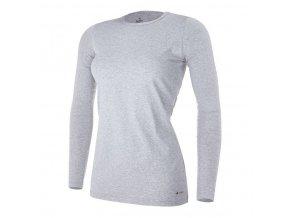 Tričko dámské DR tenké Outlast® - šedý melír (Velikost S)