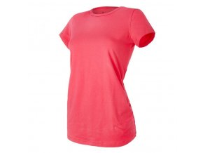 Tričko těhotenské řasené KR tenké Outlast® - jahodová (Velikost M)