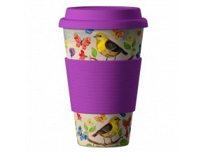 Bamboo Cup ekologický termohrnek 400ml – Birds