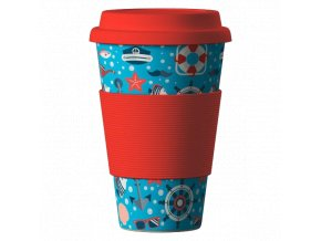 Bamboo Cup ekologický termohrnek 400ml – Sea Red
